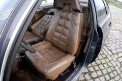 Los asientos de cuero son realmente cómodos.
