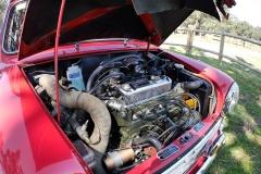 El motor es el original, pero con doble carburación.