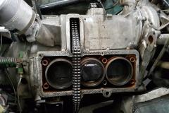 Las culatas fuera dejaron a la vista los cilindros.