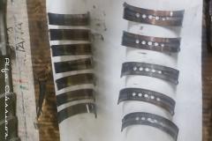 Los casquillos de  bancada y de biela mostraban una lubricación deficiente.