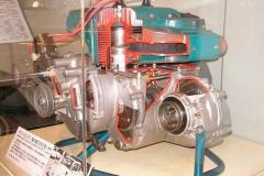 Motor refrigerado por aire del Subaru 360.