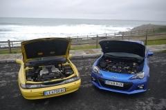El Subaru SVX y el BRZ cuentan con motores bóxer de 6 y 4 cilindros respectivamente.