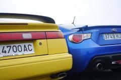 El Subaru SVX y el BRZ comparten carrocerías de estilo coupé, pero sus planteamientos son radicalmente opuestos: lujoso gran turismo el primero, deportivo puro el segundo.