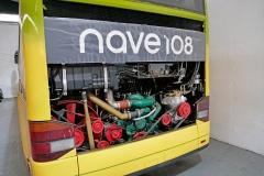 Este autobús sufrió un incendio y está ya casi como nuevo.
