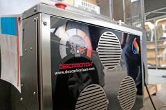 Máquina para el descarbonizado de motores.