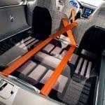 Los cinturones de seguridad son protagonistas en este concept.