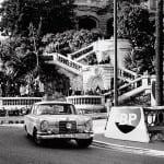 El Mercedes W111 en Mónaco.
