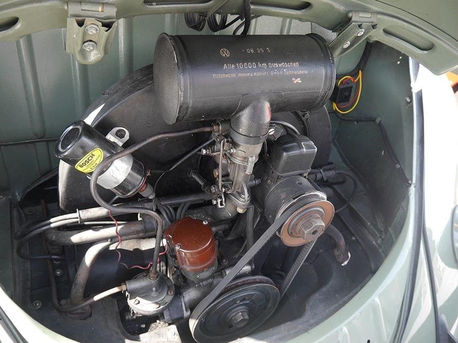 El motor original del VW refrigerado por aire.