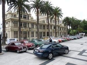 Todos los Saab de la historia reunidos en La Coruña en 2010.