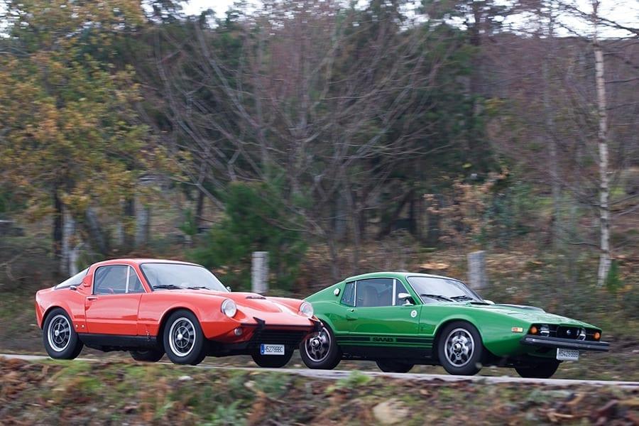 Saab Sonett II V4 y Sonett III juntos.