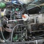 El motor sin las culatas.