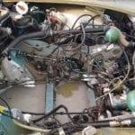 El vano motor se limpió para recibir el motor como nuevo.
