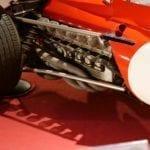 Detalle del motor horizontal.