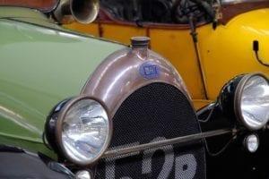 Detalle del radiador del Fiat.