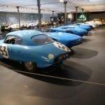 El color azul de los coches franceses en competición.