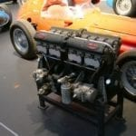 Precioso motor Bugatti de competición.