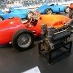 Motor de Ferrari con compresor.